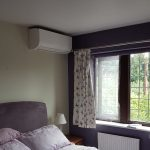 bedroom air conditioning unit on wall
